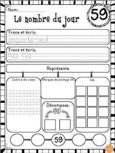 French Buzz - ressources en français: Nombre du jour - 1 à 100