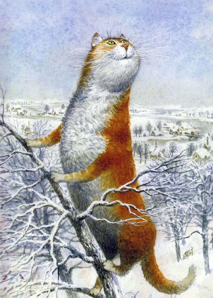 Цветами, открытки коты весной