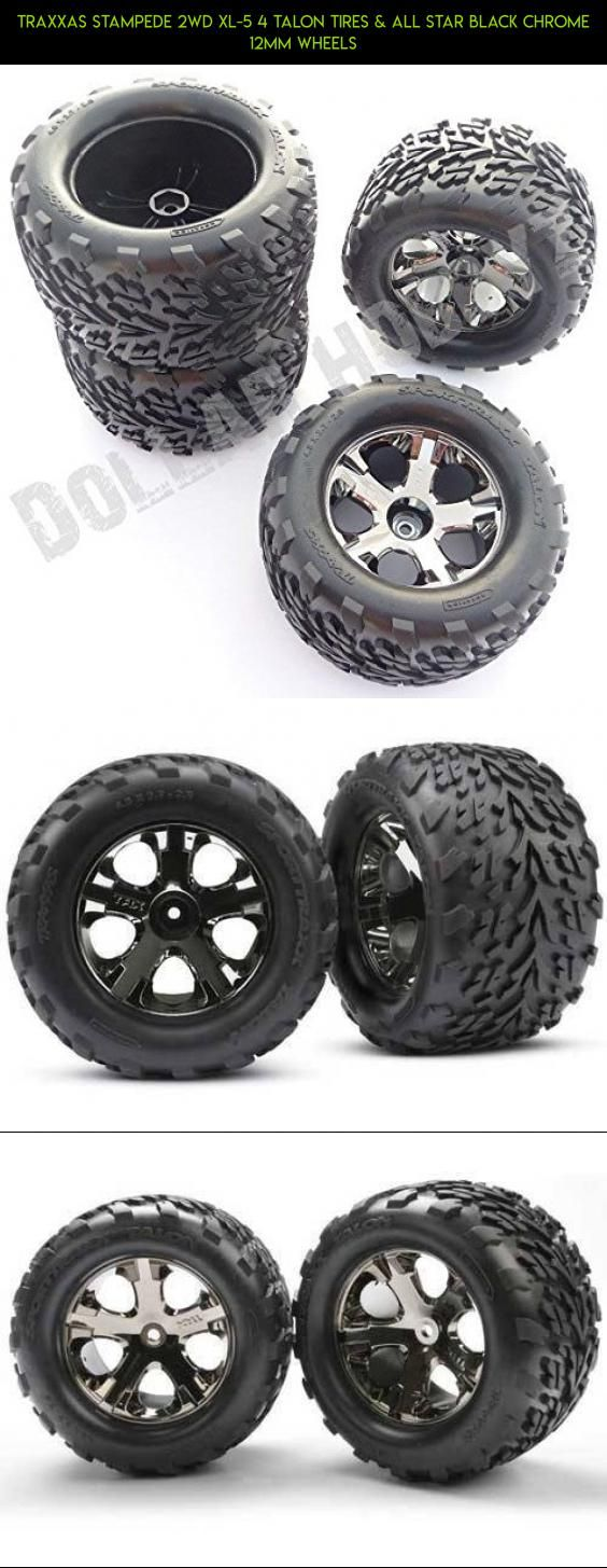 Traxxas Stampede 2wd XL-5 4 TALON TIRES & ALL STAR BLACK CHROME 12mm WHEELS #shopping #traxxas #gadgets #fpv #technology #camera #racing #products #tech #wheels #drone #plans #parts #kit