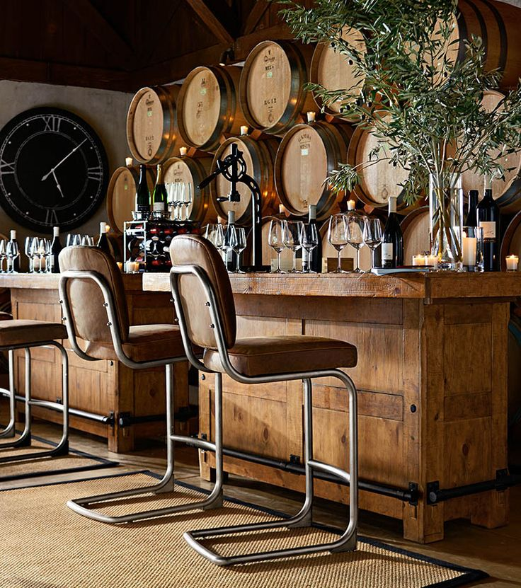 Look at the barrels! Wow. Raise the bar for entertaining. #potterybarn