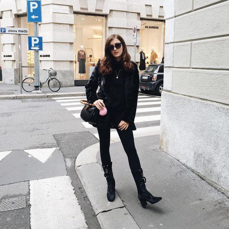 "Eleonora Carisi on Instagram: ""Halloween mood on leaving today for Dubai . I expect an incredible experience. Follow my snapchat & Happy Halloween  #Dubai #blackonblack"""