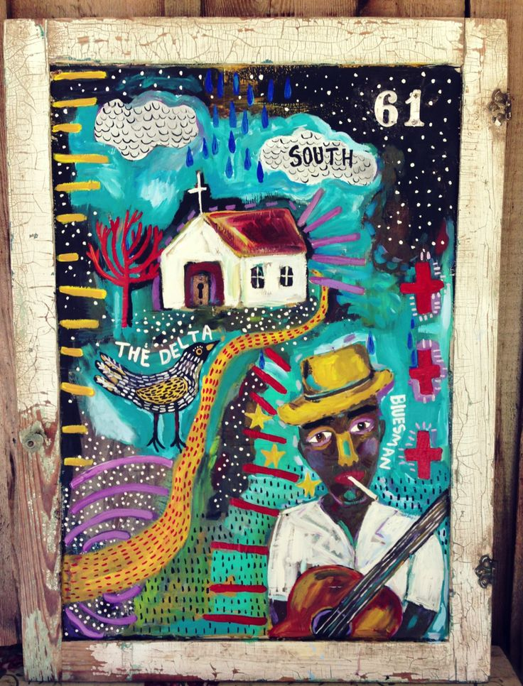 Delta Blues Folk Art Outsider Art - pinned by pin4etsy.com