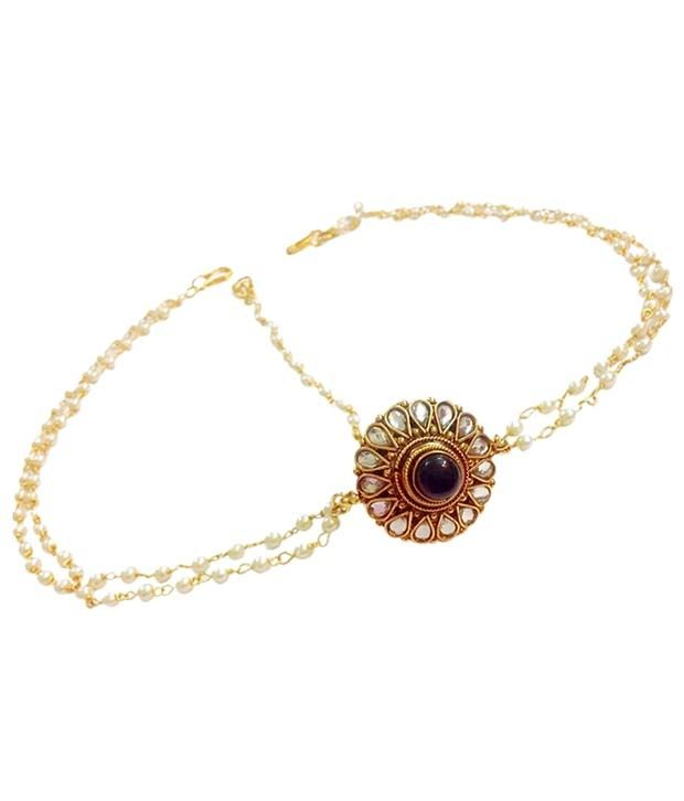 Loved it: Divinique Jewellery Elegant Gold Finish Polki Maang Tika,