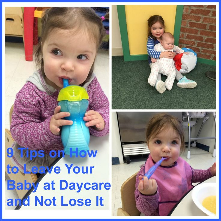 I know some things about how to leave your baby at daycare and not lose it.