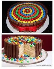 Resultado de imagen para torta decorada con rocklets y chocolates