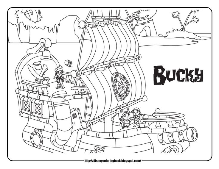 Cool Jake and the Neverland Pirates Coloring Pages for