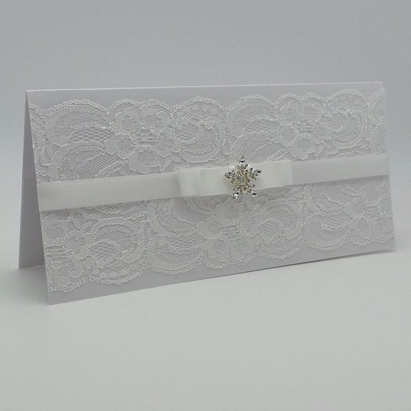 Wedding Gift Vouchers: Z0005 LUXURY HANDMADE LACE CHRISTMAS MONEY WALLET GIFT