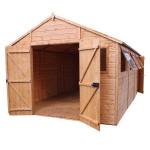 Mercia Light Brown Premium Shiplap Wooden Workshop - 10x20ft £1536