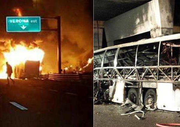 Autobus di studenti prende fuoco in autostrada: è strage - http://www.sostenitori.info/autobus-studenti-prende-fuoco-autostrada-strage/277382