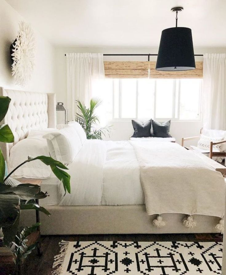 48 Modern Tiny Bedroom With Black And White Designs Ideas For Small Spaces Roundecor Home Decor Bedroom Bedroom Interior Farmhouse Bedroom Decor