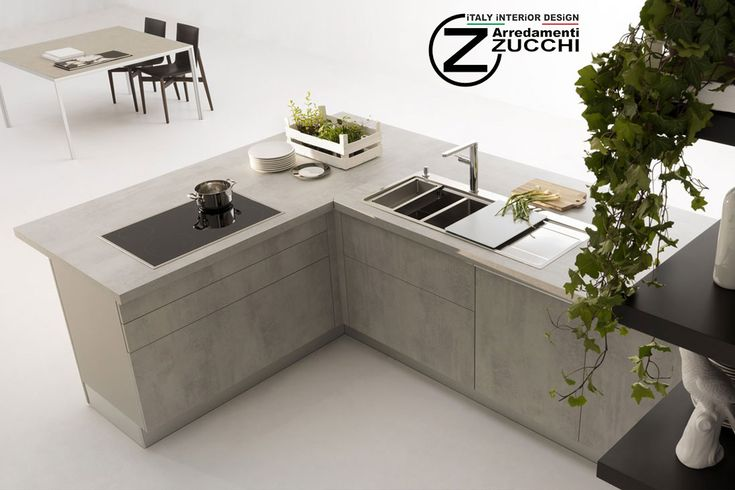 Piani cucina in Laminato Cemento - Dada - - Cucine - Zucchi ...