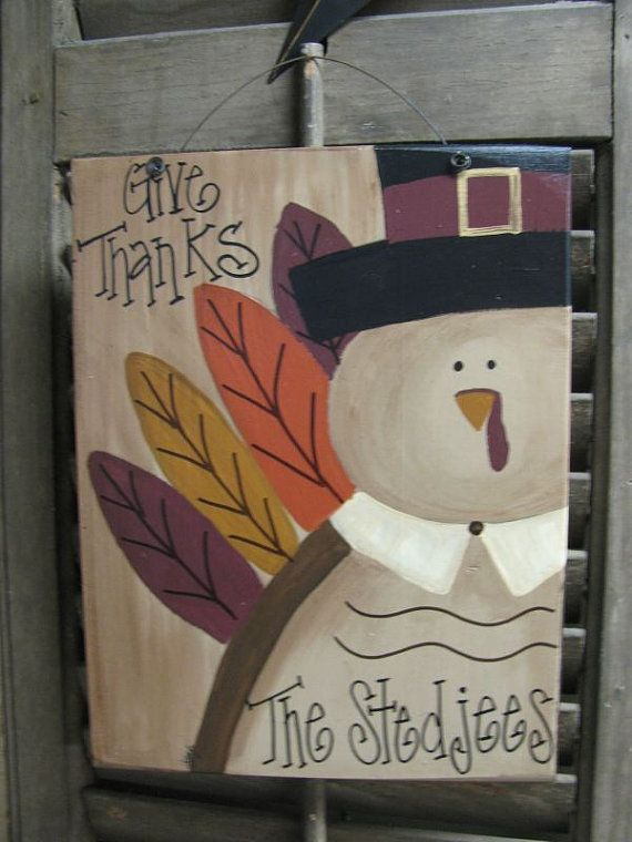 Hand Painted Personalized Turkey Sign Plaque GCC4908