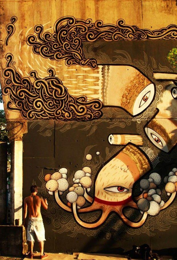 30 artistas de rua  (Foto: Reprodução)  Thiago Alvim
