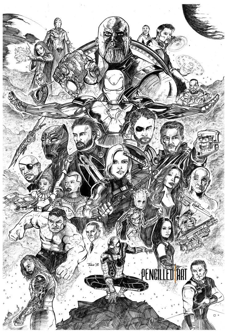 avengers infinity war  pencilled  avengers drawings