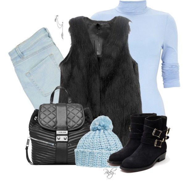 Faux Fur Vest by pinkystyle on Polyvore featuring moda, Marc by Marc Jacobs, Rupert Sanderson, MICHAEL Michael Kors, Bling Jewelry and BP.: