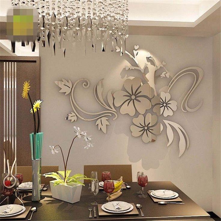 Modern-Mirror-Flower-Removable-Decal-Art-Mural-Wall-Sticker-Home-Room-DIY-Decor