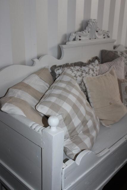 White wooden sofa