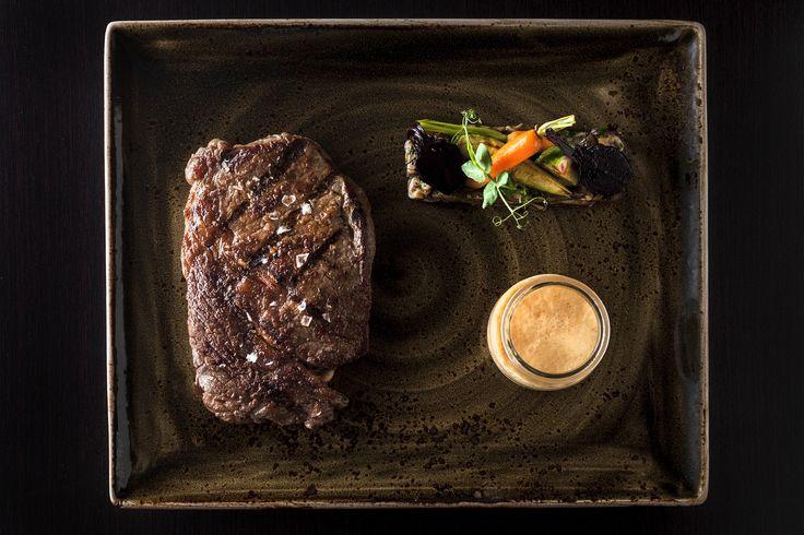 Rib eye steak at Paris Budapest Restaurant