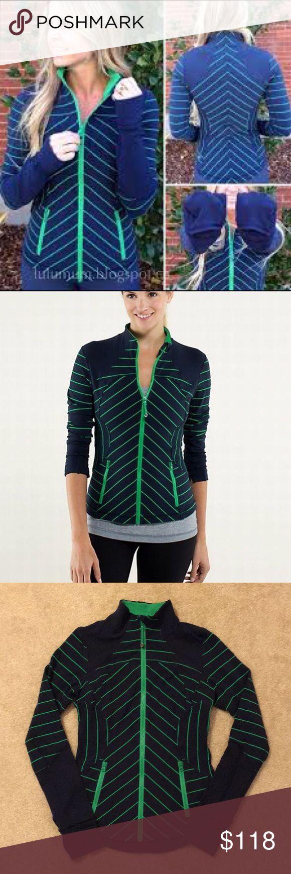 Lululemon Forme Jacket Seahawks Colors Lululemon Forme Jacket  Excellent condition  Go Hawks 💙💚 lululemon athletica Jackets & Coats