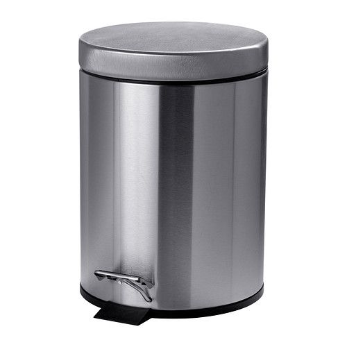 For the bathroom: STRAPATS Pedal bin, stainless steel stainless steel 1 gallon