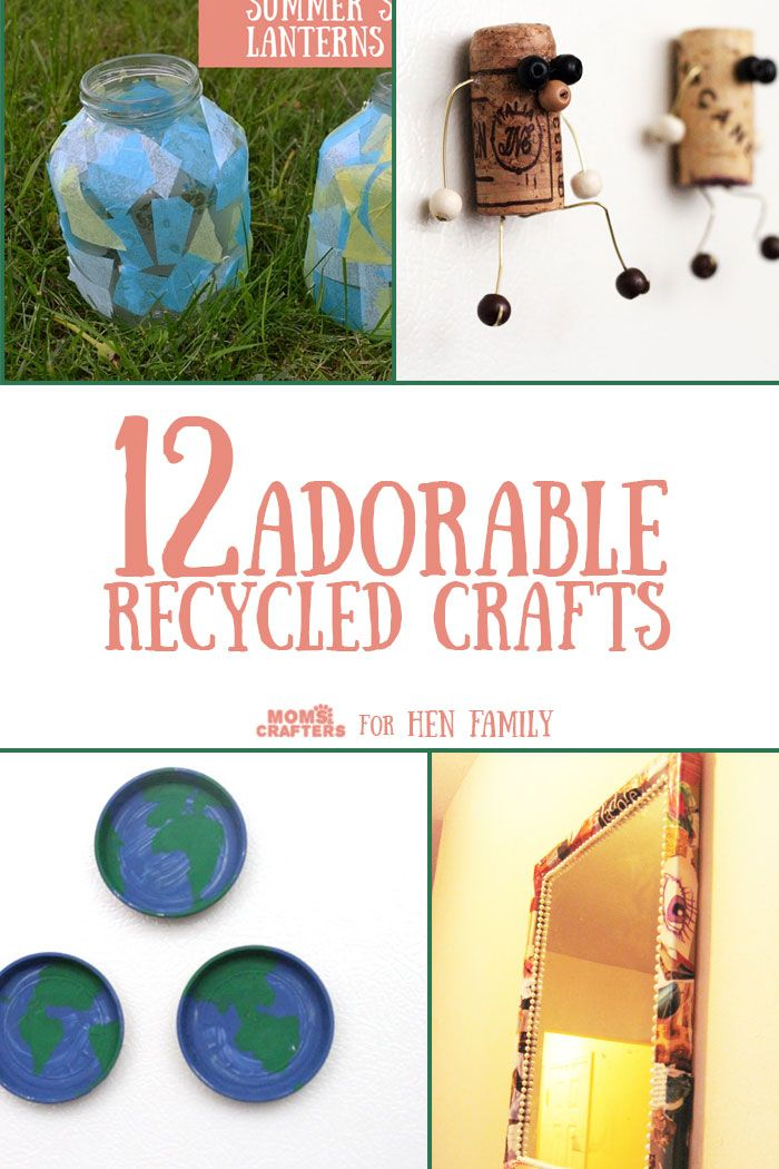 2440 best kids arts crafts images on pinterest crafts for Easy recycling project ideas