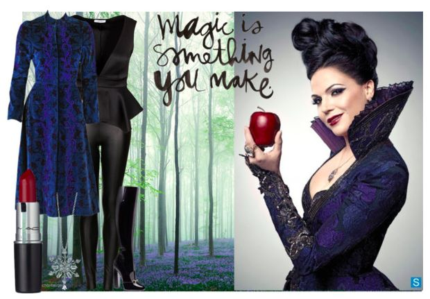 Look inspired by the Evil Queen from Once Upon a Time @thegirlbackstage