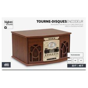 TOURNE DISQUES 2VITESSES 45 ET 33 TOURS EN BOIS RADIO CD K7 - platine vinyle, avis et prix pas cher - Cdiscount