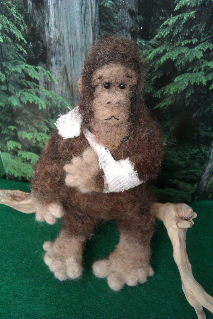 George, 2014; needle felted commission for a friend who broke his arm at the Sasquatch music festival. By Holly Boone
