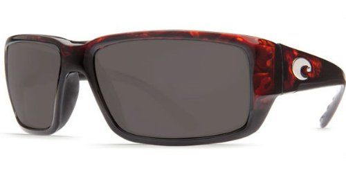 Costa Fantail Polarized Sunglasses - Costa 580 Glass Lens Tortoise/Gray, One Size