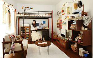 一人暮らしの雑貨屋さんみたいなワンルーム : 一人暮らしワンルームのインテリア実例集【レイアウト・コーディネート・模様替えの参考に】 - NAVER まとめ
