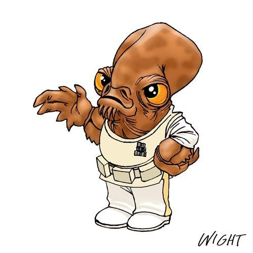Voici l'Alphabet Kawaii Star Wars, une création de l'illustrateur Joe Wight qui a réalisé une illustration d'un personnage de Star Wars en miniature pour cha
