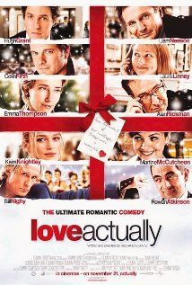 Love Actually (2003): Follows the lives of eight very different couples in dealing with their love lives in various loosely and interrelated tales all set during a frantic month before Christmas in London, England. | #christmasmovies