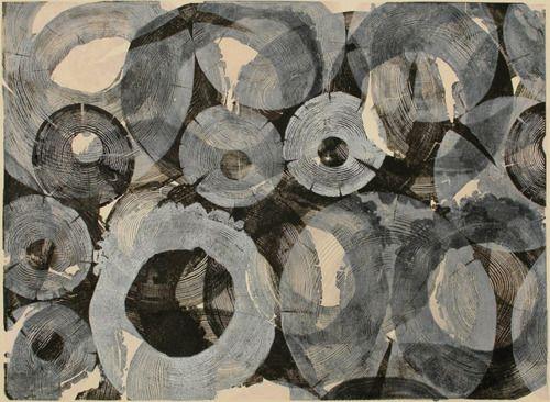 """berndwuersching:Bryan Nash GillRondel 1/6 - relief print,18"""" x 247/8"""", 2010"""