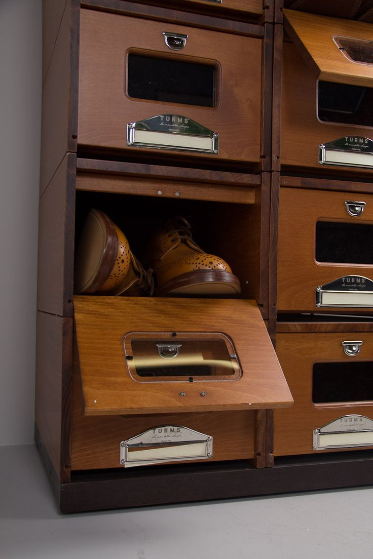 Wooden Shoe Rack made from Vintage medical cabinet,  www.clubhouseinteriors.co.uk