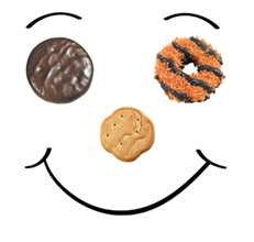Girl Scout Cookies!!! Want some I can hook you up with a cute little girl scout selling them!! She will call you herself!