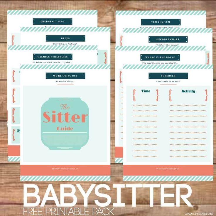 The 25+ best Babysitter printable ideas on Pinterest Babysitter - printable medical release form for children