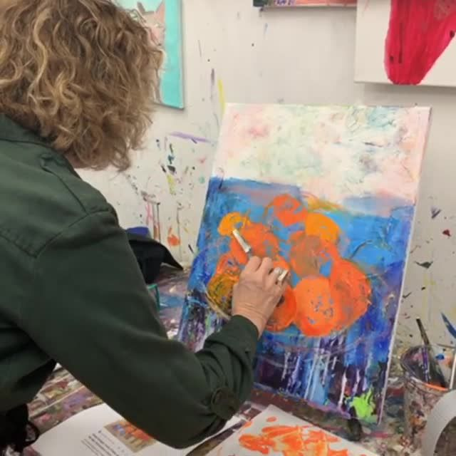A Colorful Dive Into Palette Knife Painting With Complementary
