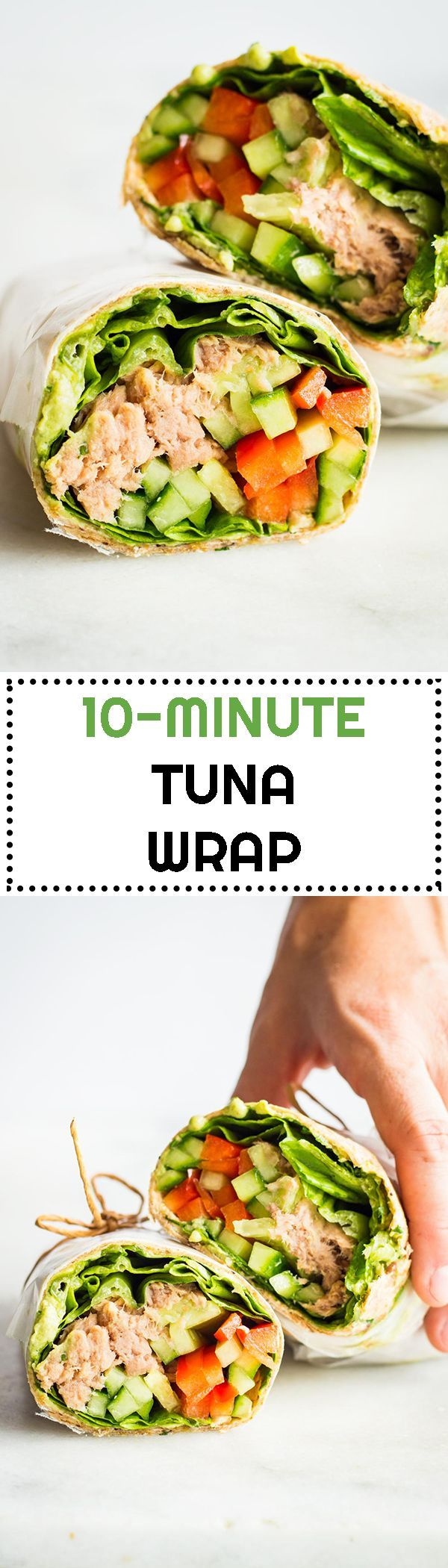 What's the most convenient take-to-work or take-to-school or take-to-park lunch ever? Definitely this healthy 10-Minute Tuna Wrap.