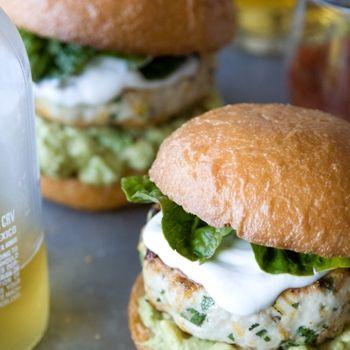 Cheddar Jalapeno Chicken Burgers with Guacamole Recipe - ZipList