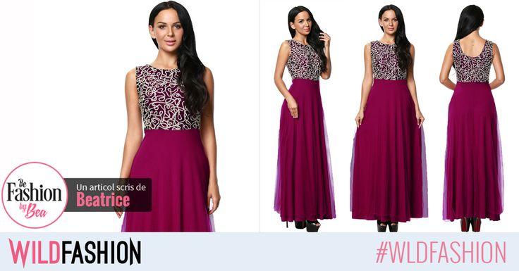 Poarta o rochie maxi, dintr-o combinatie cromatica vibranta si sofisticata! Shop now!