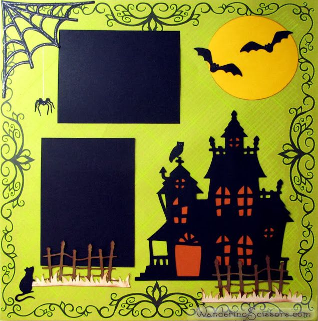 Halloween Layout from Wandering Scissors and Cricut Artbooking