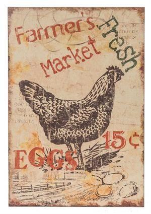 Farmer's Market Fresh Eggs Sign