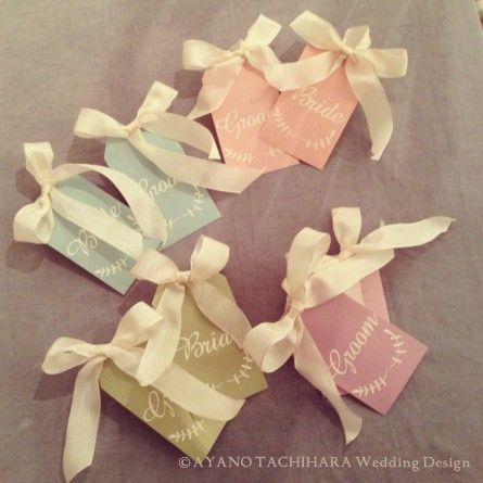 chair tag by AYANO TACHIHARA Wedding Design