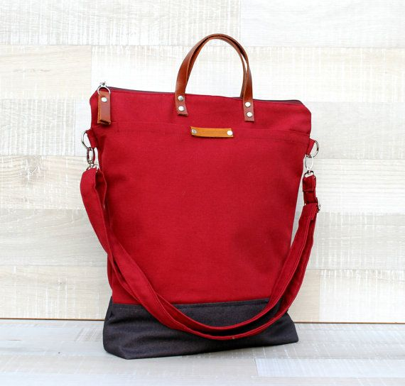 Comfort Unisex Tote canvas tote bag burgundy dark by bayanhippo