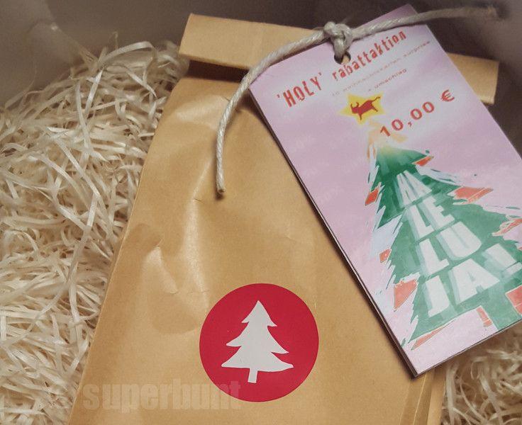 15 x weihnachtskarten surprise plus umschlag von atelier superbunt auf DaWanda.com