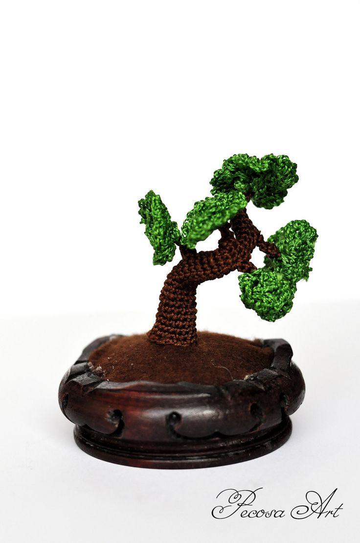 Handmade bonsai tree by PecosaCrochet on Etsy