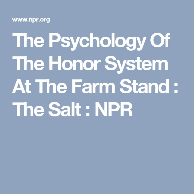 The Psychology Of The Honor System At The Farm Stand : The Salt : NPR
