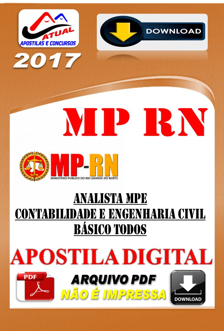 Apostila Concurso MPRN Analista do MPE Contabilidade e Engenharia civil 2017