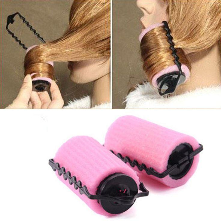 New fashion Sponge Curler 6PCS Magical  Hair Care Roller Foam Style  sweet Pink Sponge Curlers DIY Salon wave hair tools A2