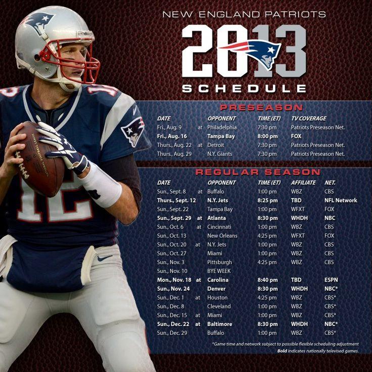 patriots 2013 schedule | Patriots: 2013 NFL Schedule Released | Big Play Nation